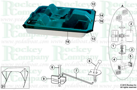 Parts From  Pedalboat Com